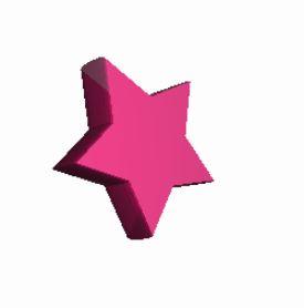 星形表示のサンプル